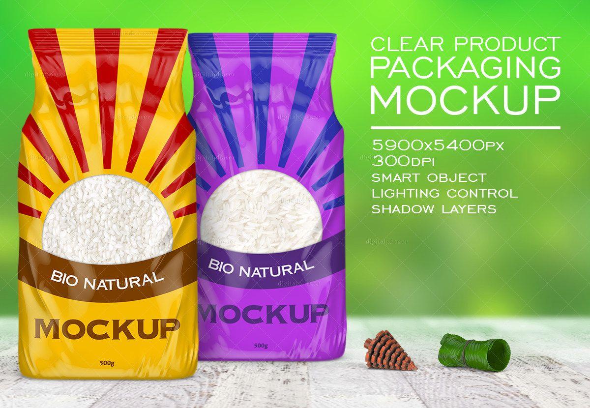 Download Clear Plastic Rice Bag Mockup Packaging Mockup Bag Mockup Mockup