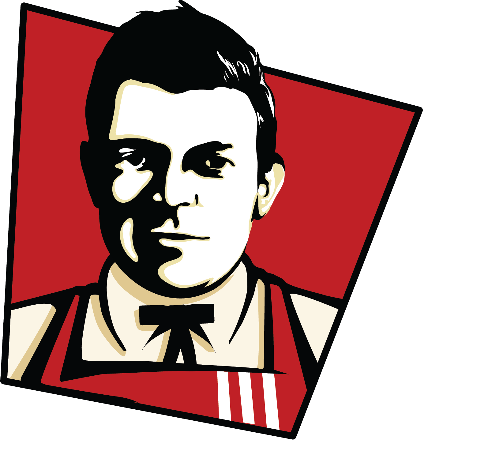 I will draw you in KFC logo style caricature pop arts