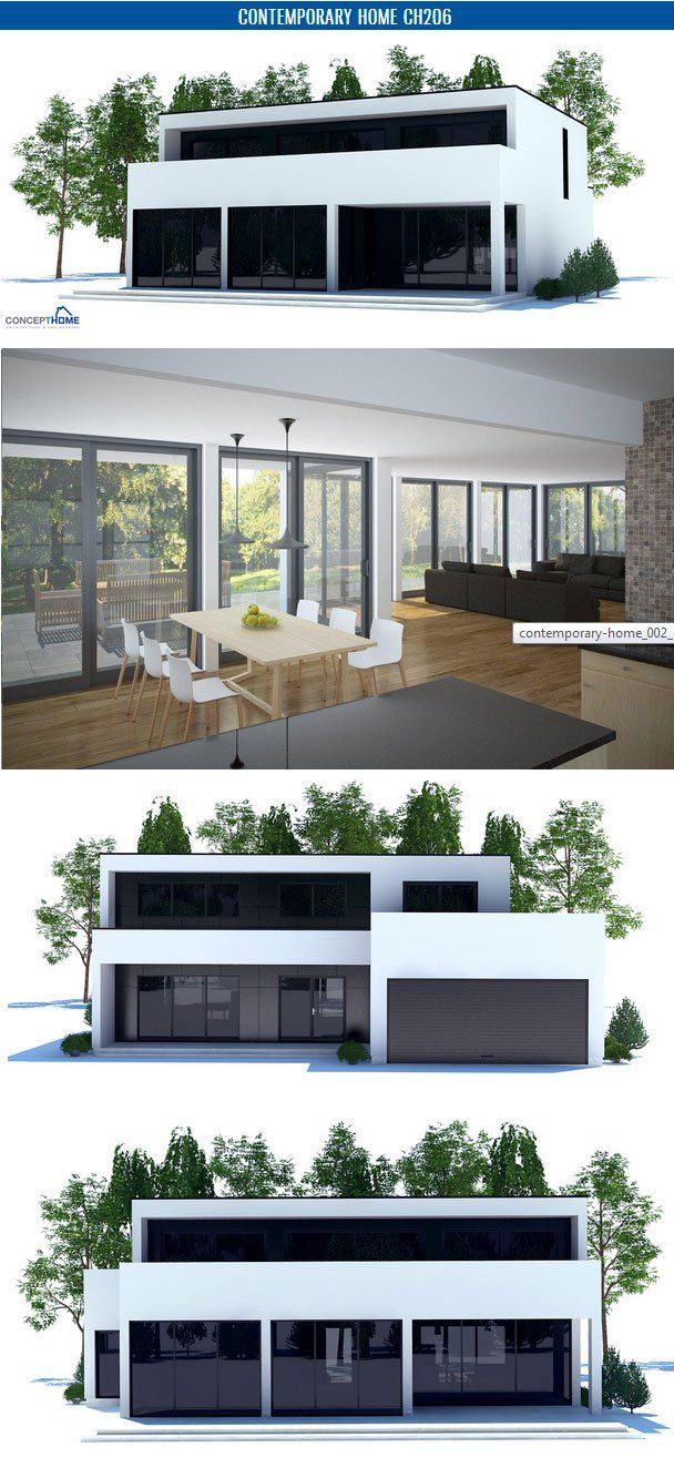 Contemporary Home Maison 2g By Avenier Cornejo Architectes: Contemporary House Plan With Open Planning, Three Bedrooms