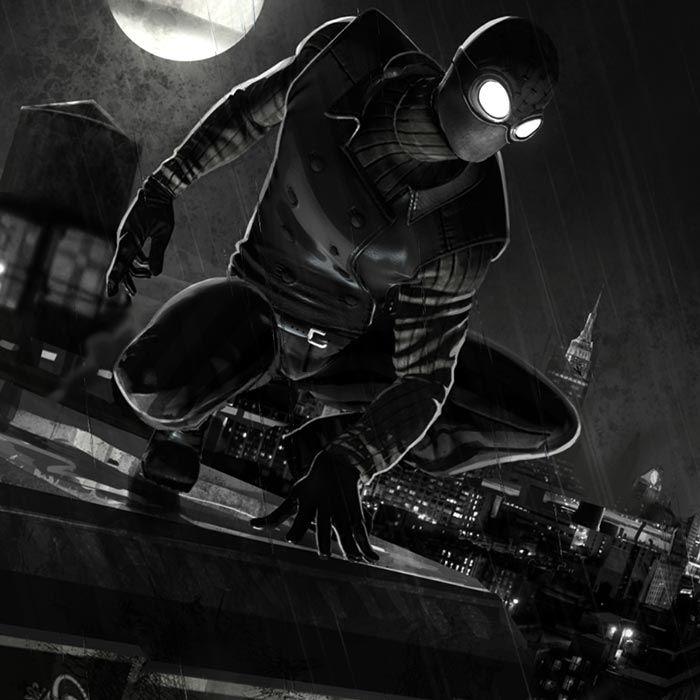 Spider Man Noir Wallpaper Engine Noir spiderman, Spiderman