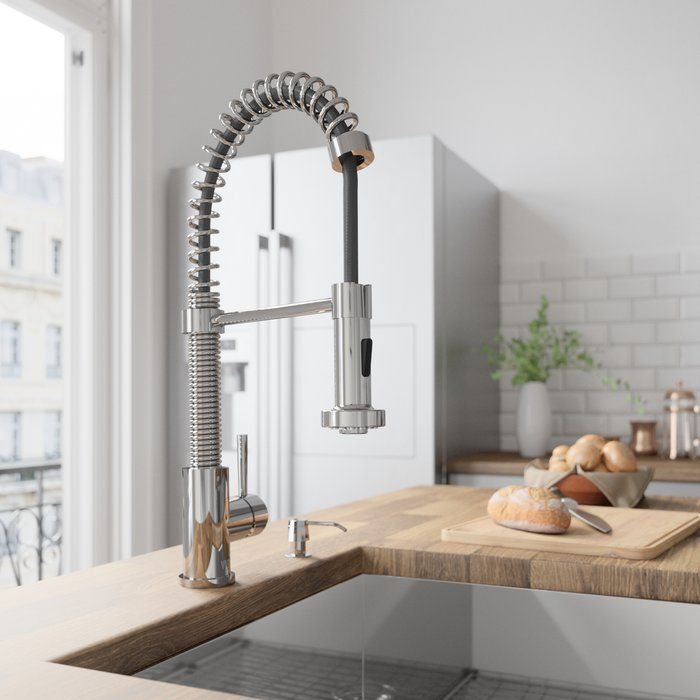 VIGO Edison Pull Down Single Handle Kitchen Faucet