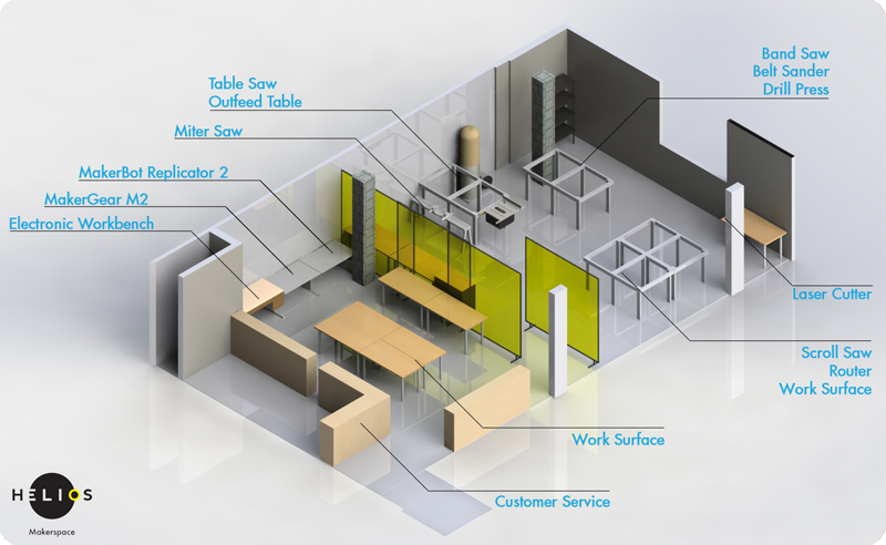 Mechanical workshop layout google search storage for Building layout maker