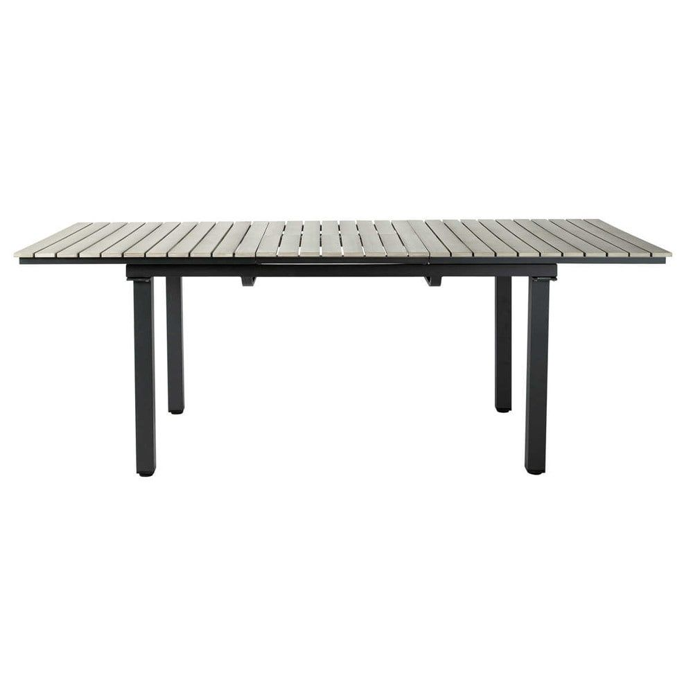 Table de jardin en aluminium gris L 213 cm | Terrasse | Table de ...