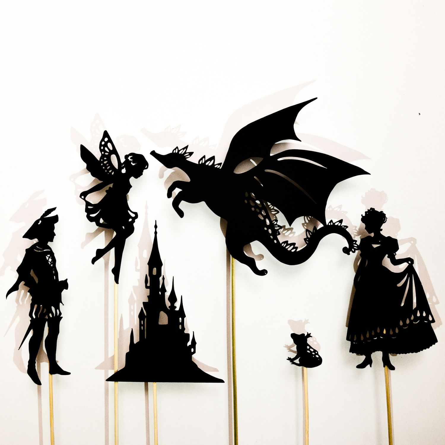 Make-a-Fairy-Tale Shadow Puppet Set: 12 puppets | Cricut