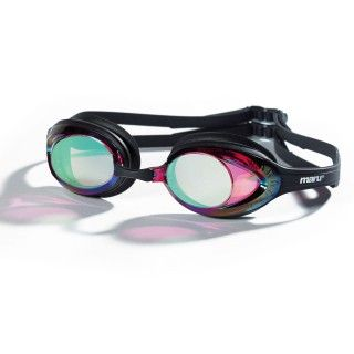 This Maru super Sonic Mirror Race Goggle has a low profile and is light weight. This goggle combines normal tinted lens with mirror coating to reduce glare when swimming.  Ideal for swim training, racing and fitness swimming!
