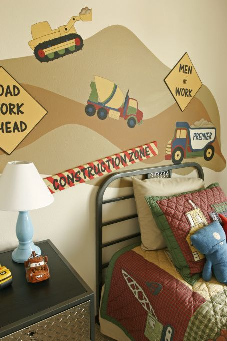 construction decor for boys room | Construction Zone Boy's Bedroom, A  special bedroom for a