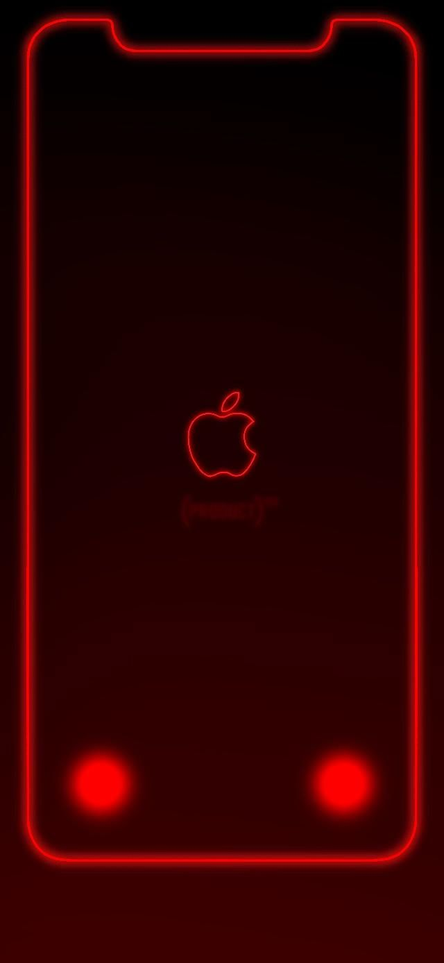 Custom Iphone Xr Product Red Wallpaper I Whipped Up Apple Logo