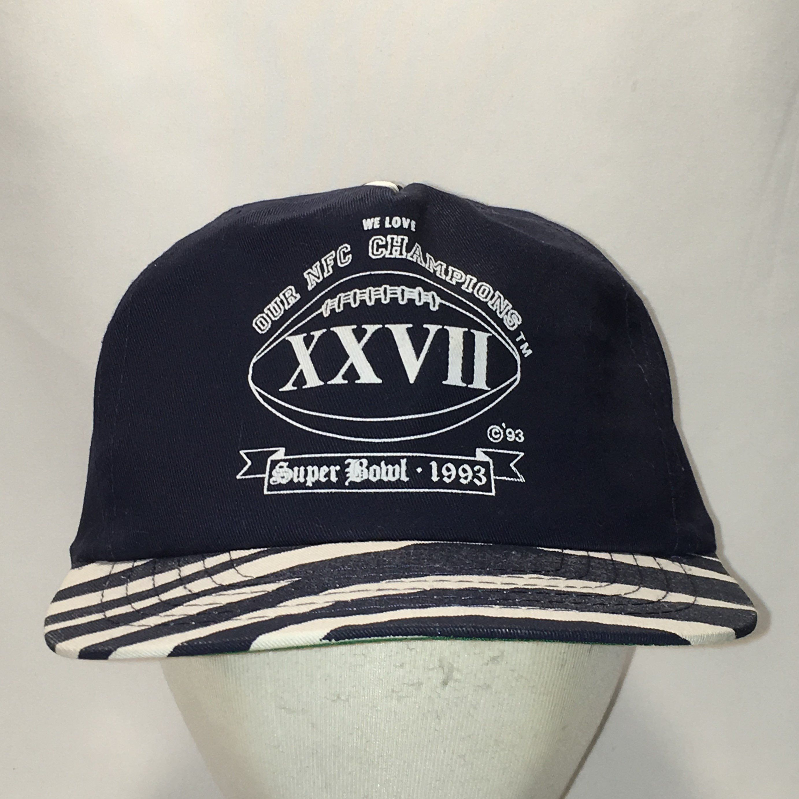 08918de6d7f Vintage Snapback Dallas Cowboys Baseball Cap NFL Football Dad Caps NFC  Super Bowl XXVII Champions Mens