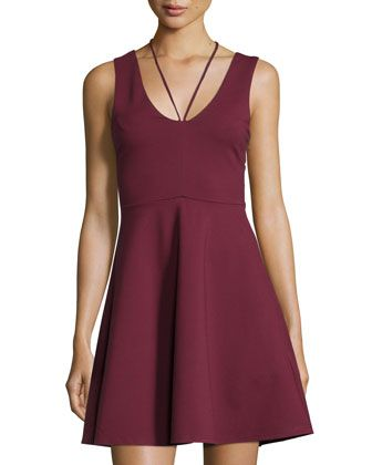 All+About+It+Sleeveless+T-Back+Dress,+Wine+by+MINKPINK+at+Neiman+Marcus+Last+Call.