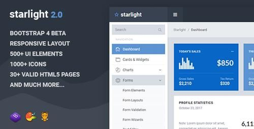 Download ThemeForest Starlight v2 0 Responsive Bootstrap 4