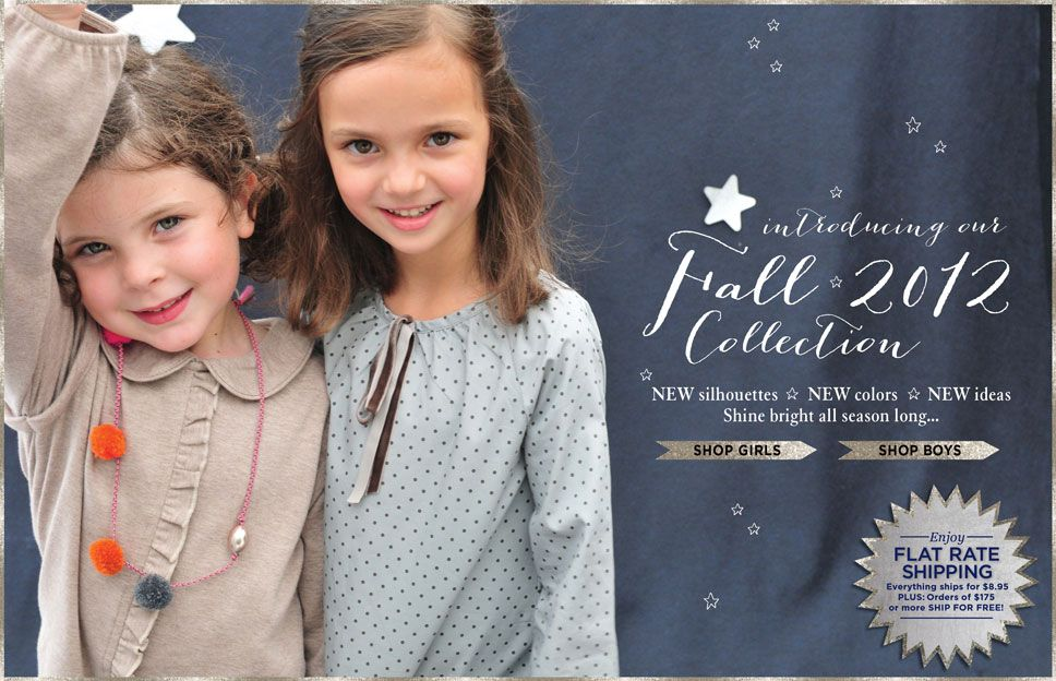 Kids clothes, for girls, boys and baby too – NEW for FALL 2012