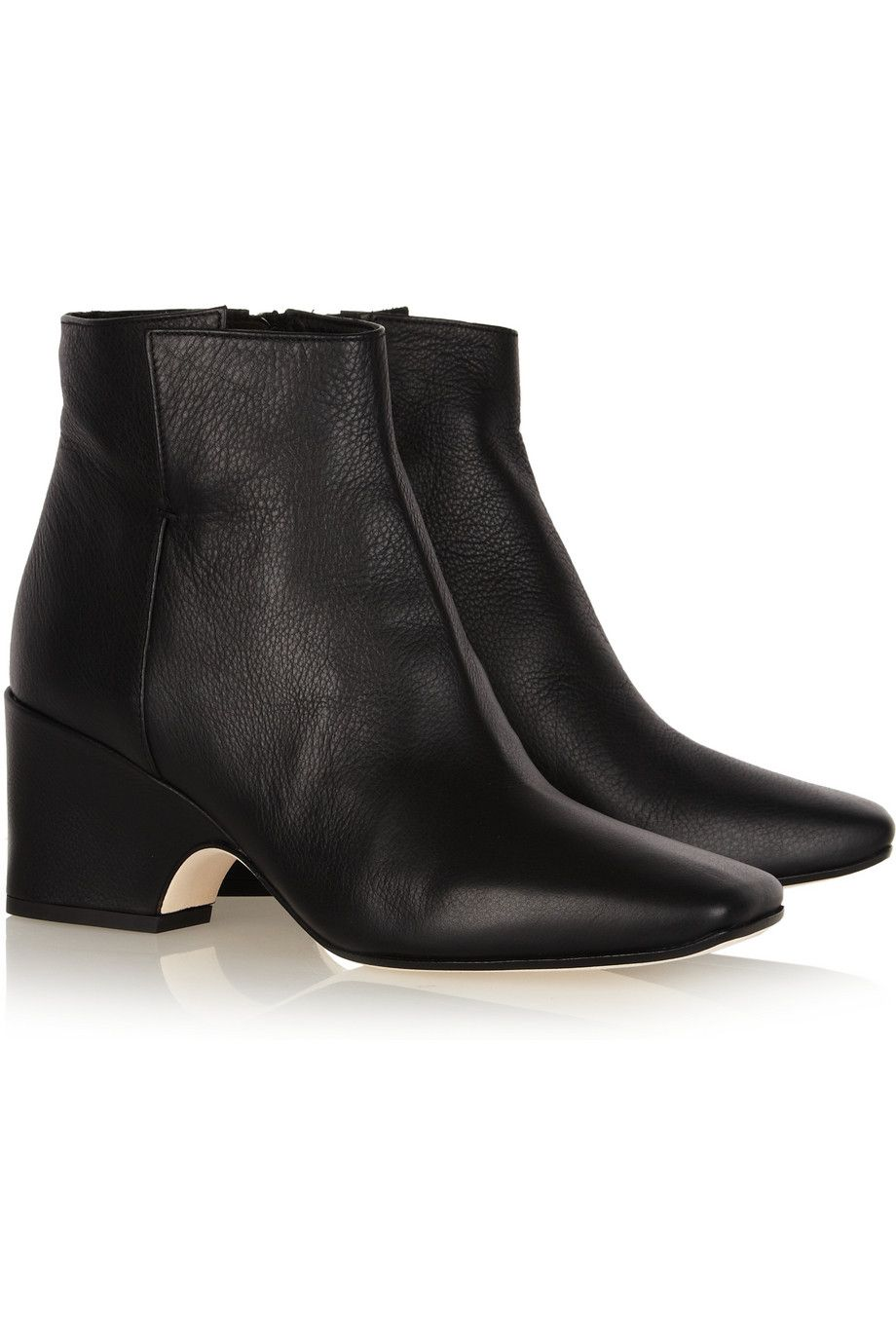 recommend sale online Calvin Klein Collection Leather Platform Booties marketable cheap price jorz6