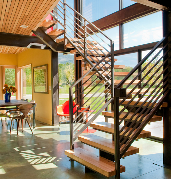 Stairs escalera escalera de madera y dise o moderno for Escaleras suspendidas