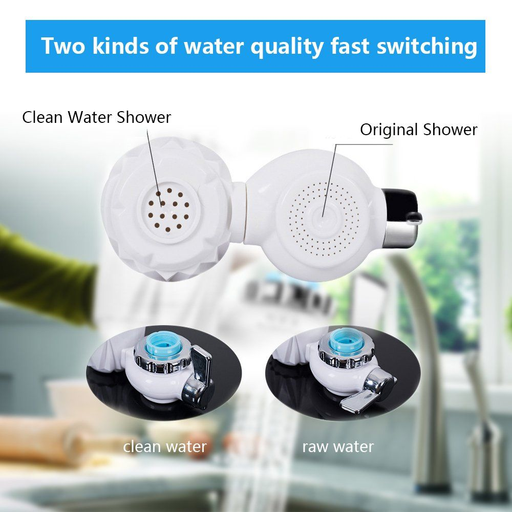 Faucet Water Filteri œtap Water Purifier Filter With 7 Size Faucet Interface For Kitchen And Bathroom Sink With Images Water Purifier Shower Cleaner Water Filter