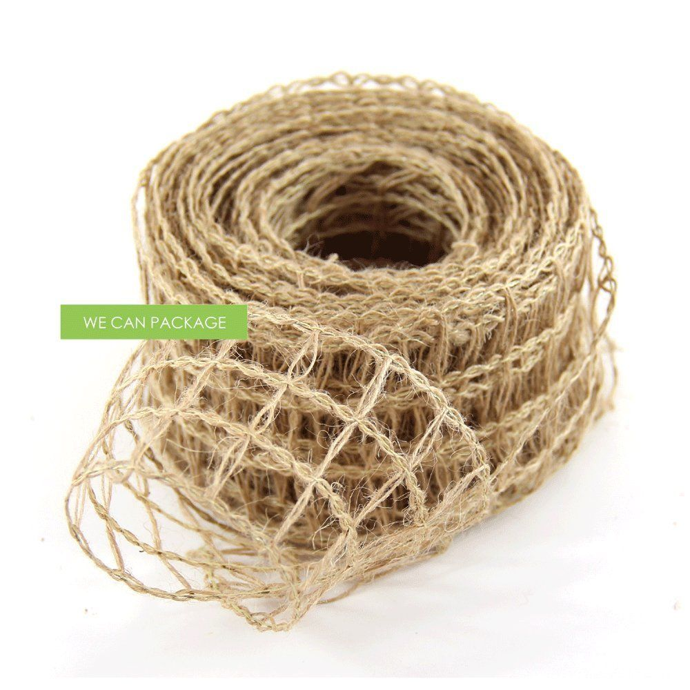 Knitted wedding decorations  We Can Package  Inches x  Yards Burlap Knitted Wired Ribbon DIY
