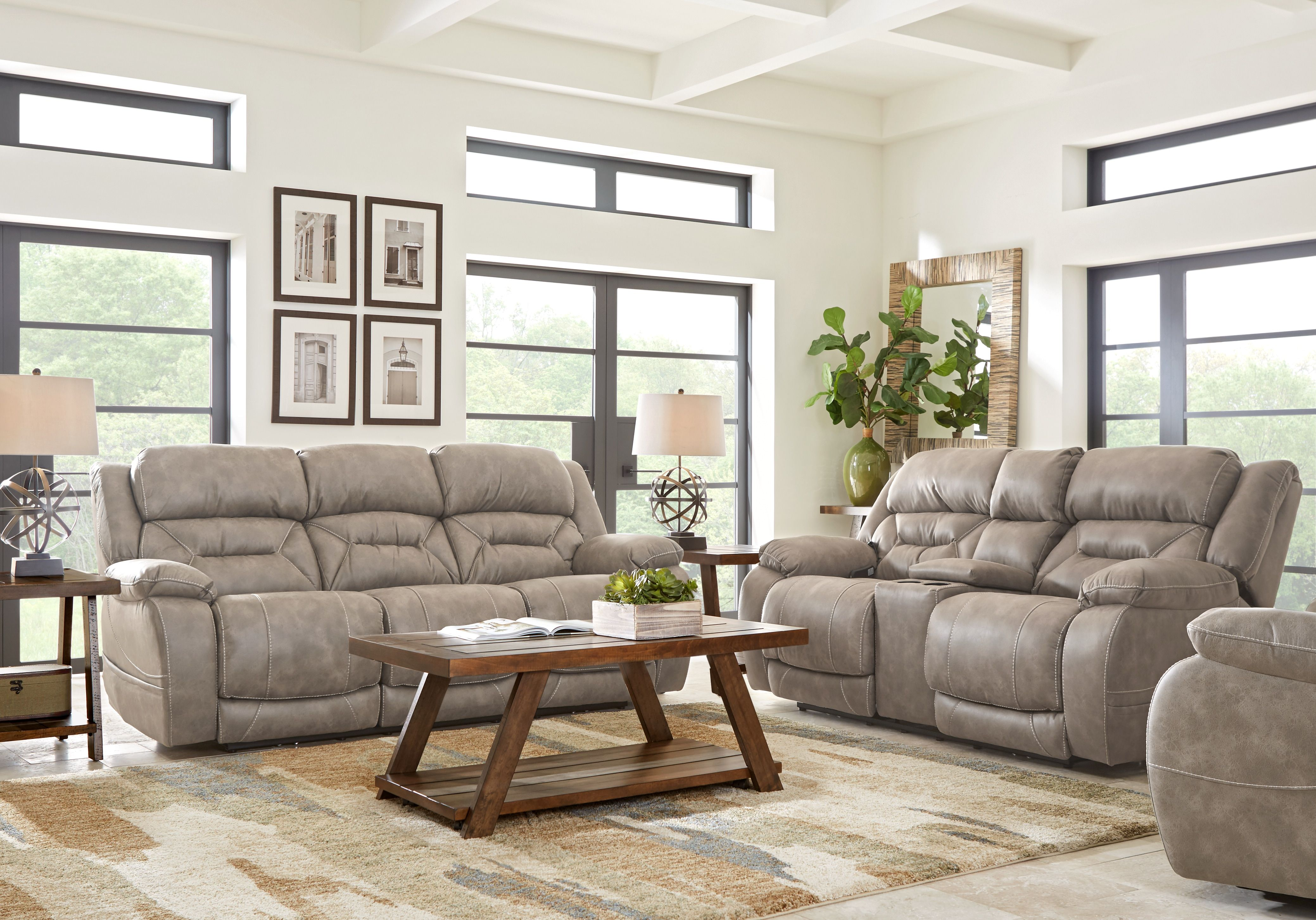 Griffin Valley Taupe 2 Pc Power Plus Reclining Living Room Reclining Sofa Living Room Quality Living Room Furniture Living Room Sets