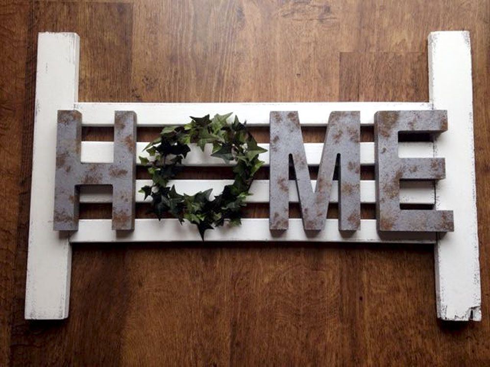 Unique One Of A Kind Home Sign With Wreath Rustic Decor
