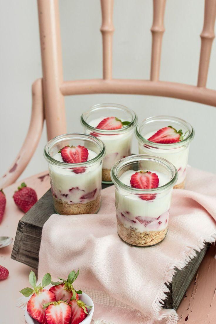 Erdbeer-Zitronen Cheesecake im Glas #einfachernachtisch