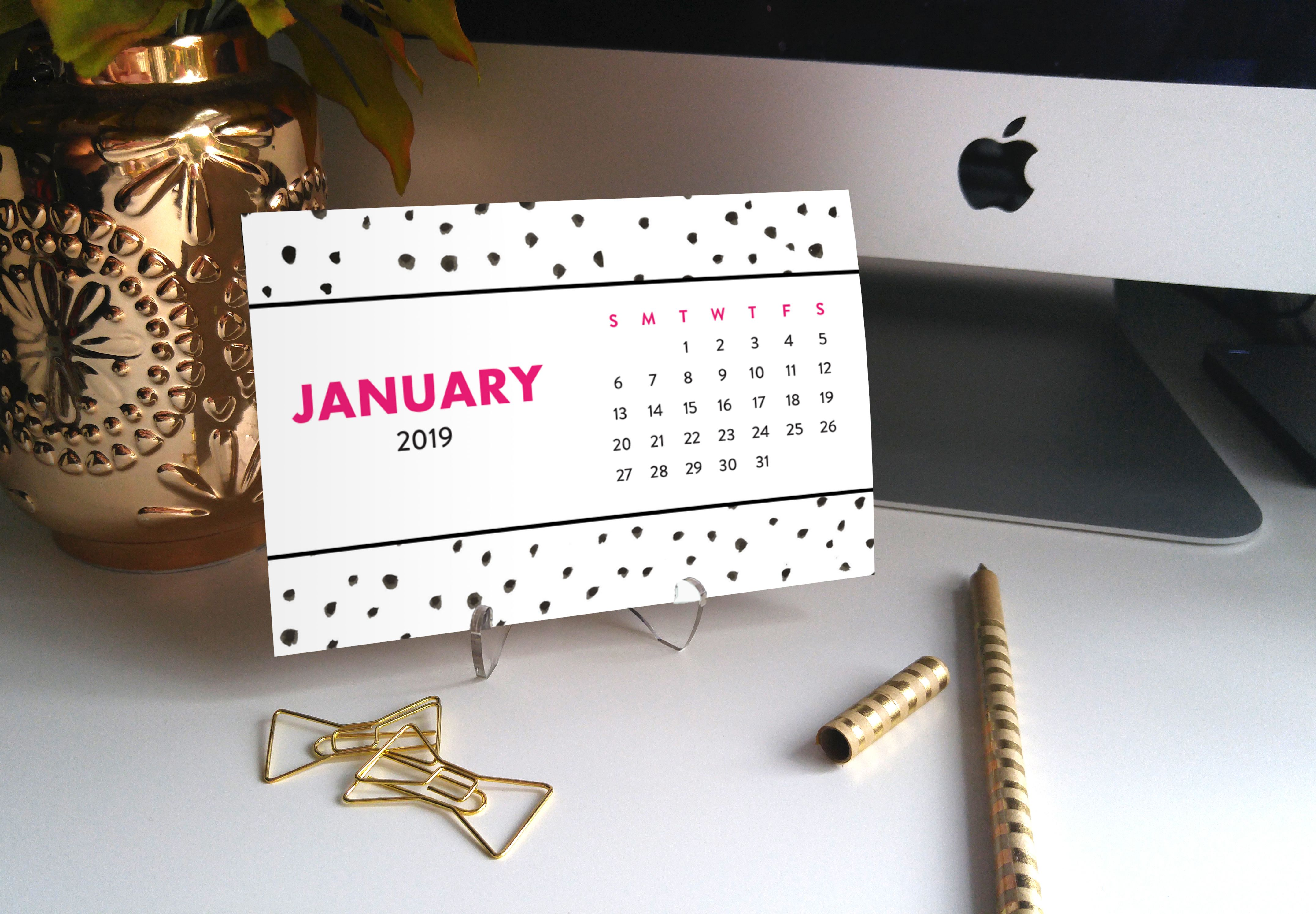 Wedding decorations ideas at home january 2019  Spotty Dots Desk Calendar by Digibuddha  Coll   Digibuddha