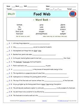 Bill Nye Food Web Worksheet. Worksheets. Releaseboard Free ...