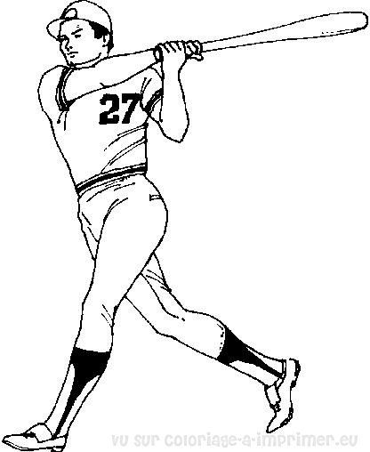 coloriage baseball dessin 18859   Baseball and soccer and basketball ...