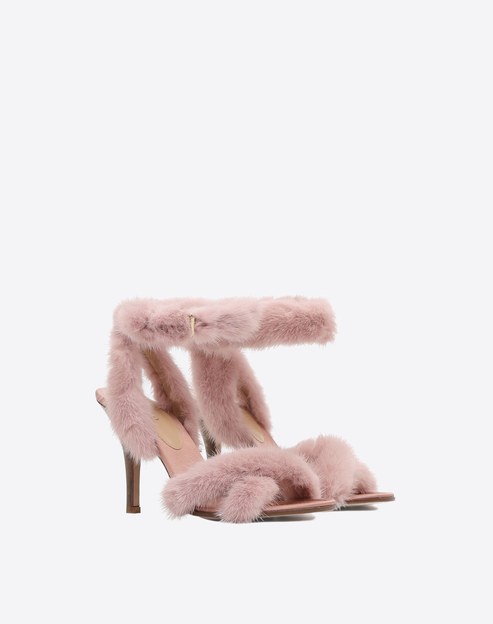 7595541ce3e2 Valentino - Pink fur sandals