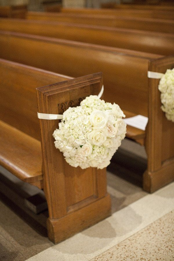 ceremony pew flower decor (no tape required!)