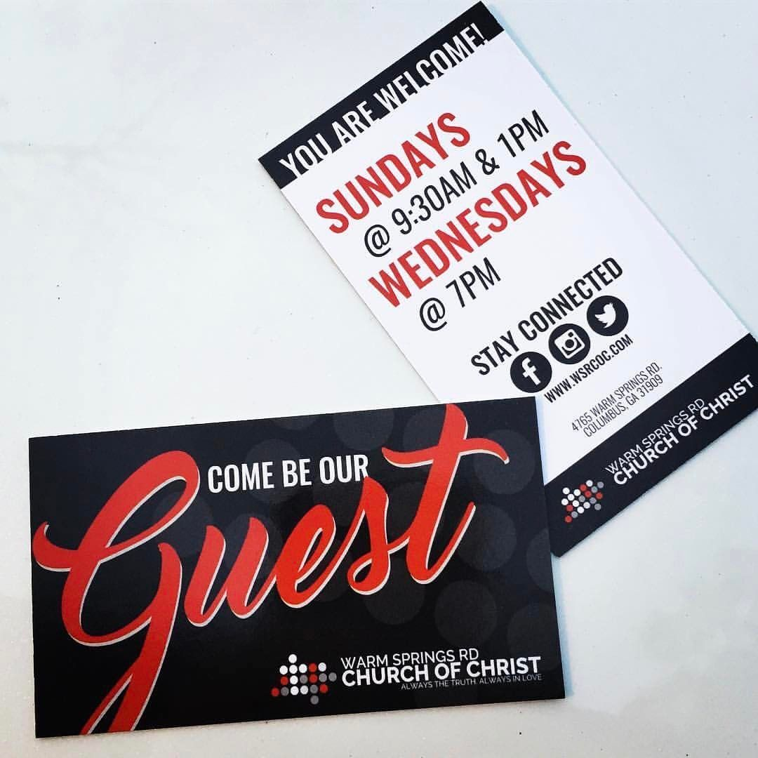 Invitation cards are great for church members to stick in their pockets and give to the next