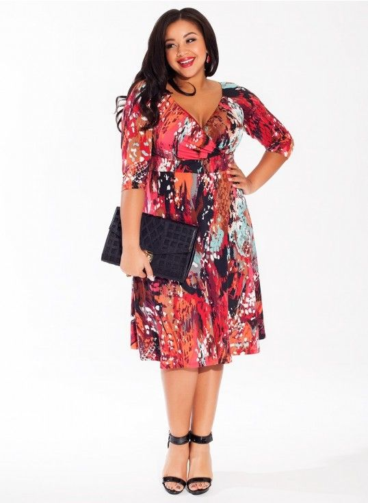 Plus Size Dress In Coral Reef Plus Size Fashion Pinterest