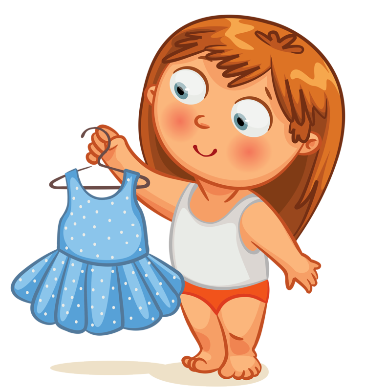 Картинка одевание для детей