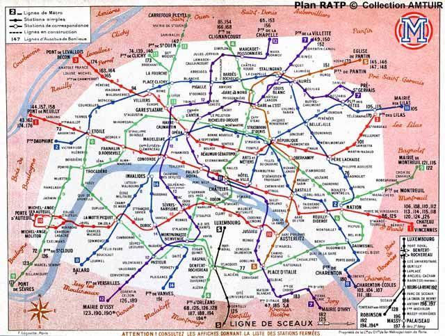 1949_06_cmp_plan. | Paris | Pinterest