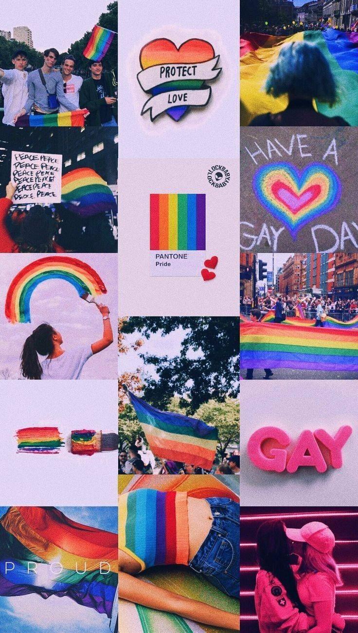 Happy Pride Month Rainbow Wallpaper Iphone Lesbian Flag Lgbtq Quotes