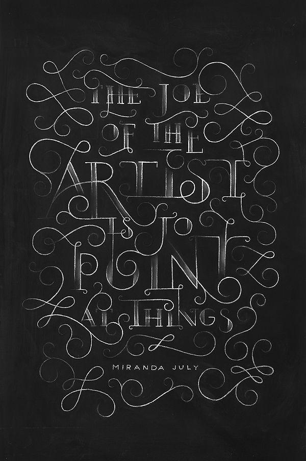 Miranda July Chalkboard by DANGERDUST, via Behance