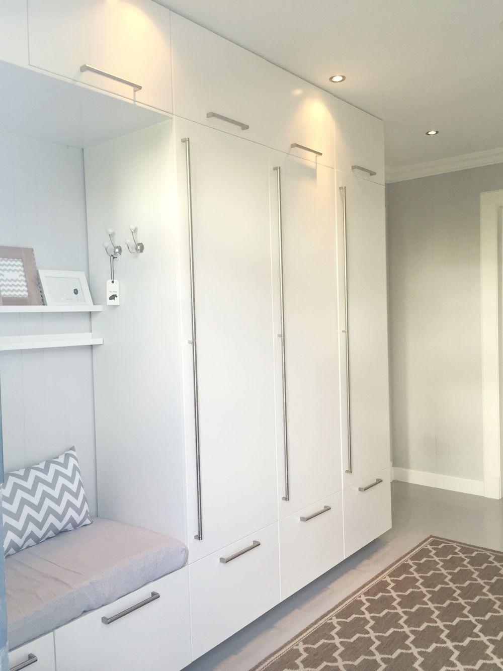 Hallway storage cabinet  IKEA hacked kitchen rebuilt as  meters wardrobes  Condo mur