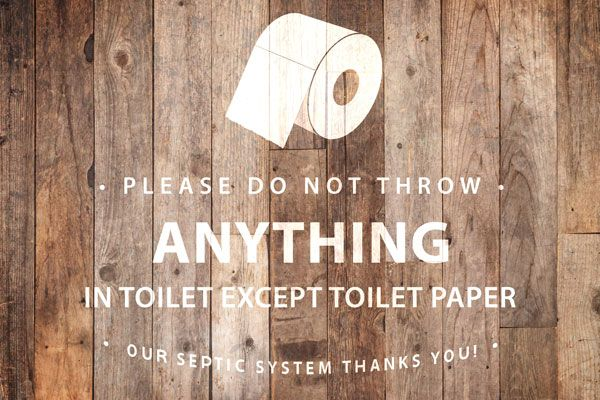 Septic System Bathroom Signs And Poems For Sensitive