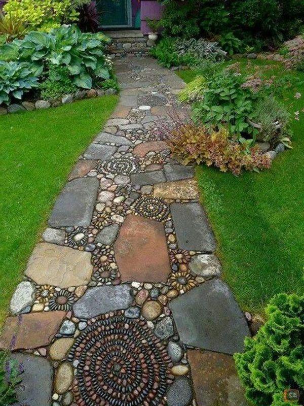 Gartenwege Anlegen Kreative Beispiele Archzine Net Schonen Gartenweg Mit Mozaik Anlegen The Post Gart Rock Garden Landscaping Backyard Landscaping Backyard