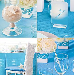 Ideas and decorations for Little Mermaid themed wedding, ceremony ...