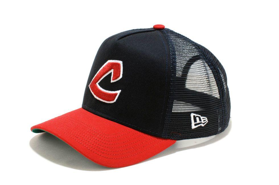 ニューエラ オンラインストアー キャップ・アパレル・バッグなどNEW ERAの直営通販: A-FRAME トラッカー MLB / クリーブランド・インディアンズ クーパーズタウン: メッシュキャップ