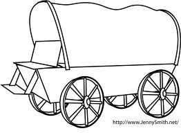 wagon train coloring pages | how to draw a covered wagon step by step - Google Search ...