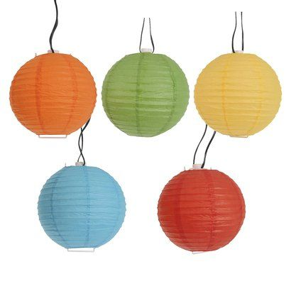 Room Essentials Multi-Color Paper Lantern String Lights (8