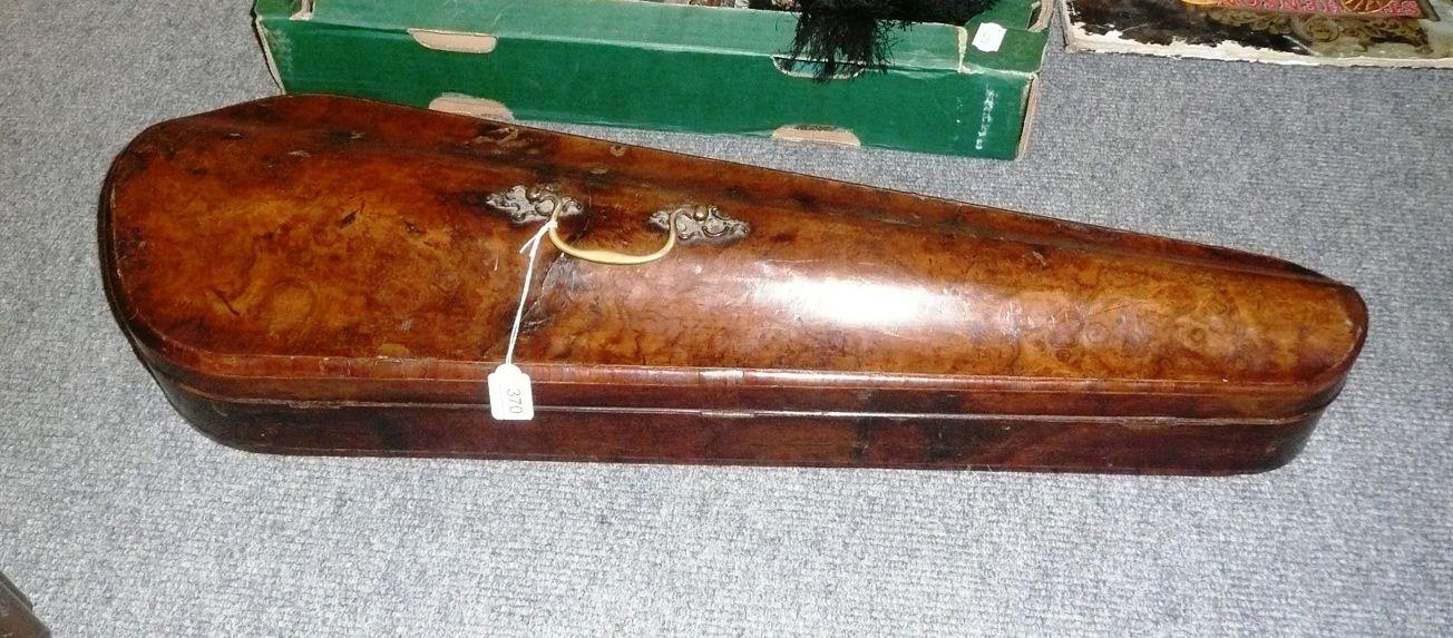 Tennants Auctioneers: 18th century walnut violin case