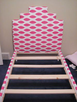 Taking A 40 Ikea Twin Bed And Adding An Upholstered Headboard