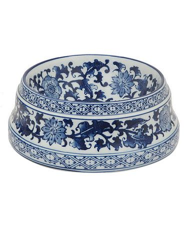 07e4ddd765ef Love this Blue & White Ceramic Bowl on #zulily! #zulilyfinds This would  make pet food and water bowls.