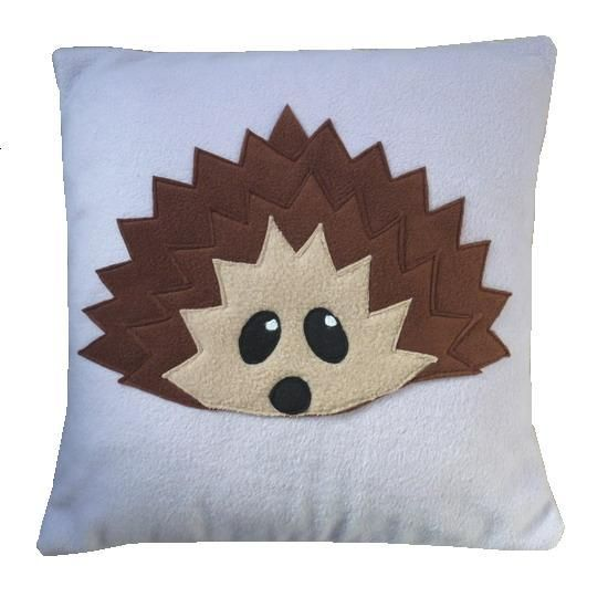 I want to make this pillow. Take it to college. Pretend I'm obsessed with hedgehogs.