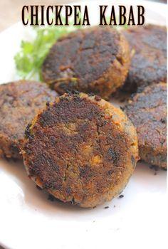 YUMMY TUMMY: Vegetarian Shammi Kabab Recipe - Chana Kabab Recipe - Chickpea Kabab Recipe