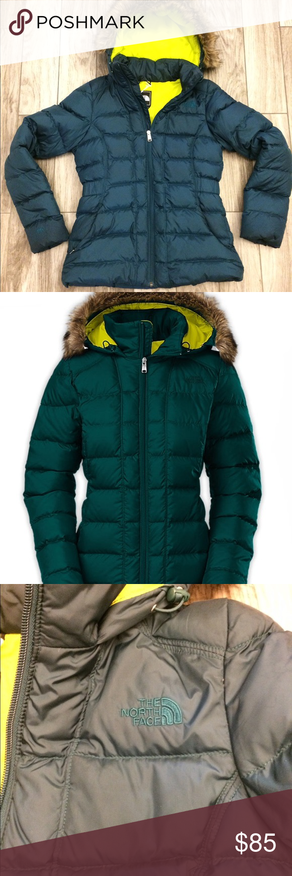 Nwot North Face Gotham Fur Hooded Puffer Coat Puffer