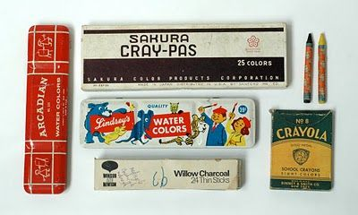 vintage art supplies, remember the watercolor box?