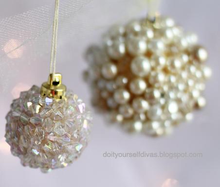 do it yourself divas: DIY: Jeweled Ornaments - Do It Yourself Divas: DIY: Jeweled Ornaments Christmas Ornaments