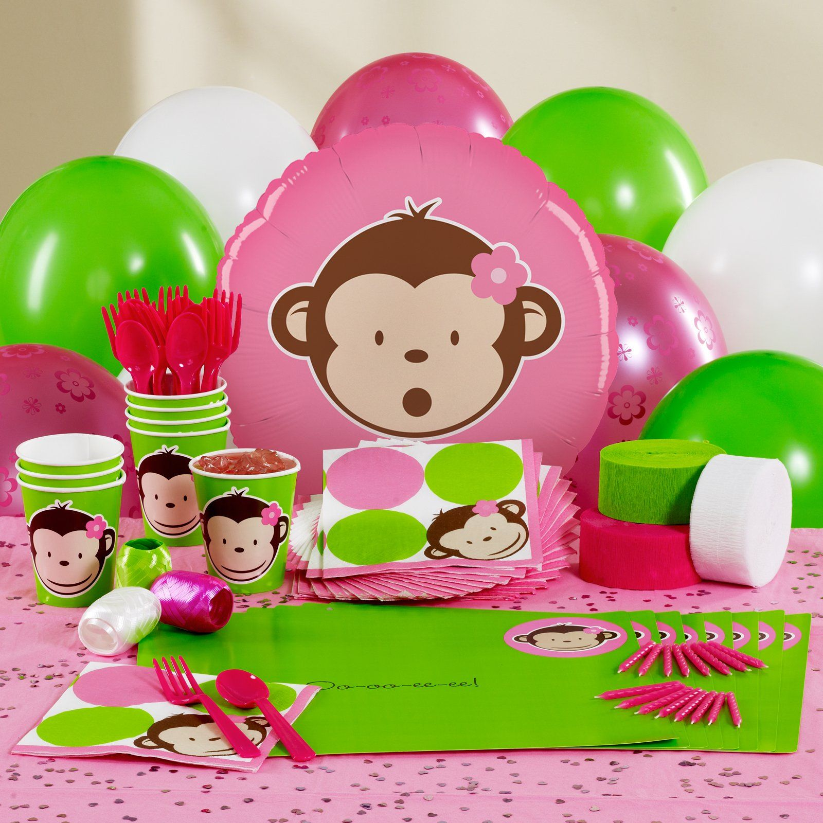 Personalized Mod Monkey birthday decorations I LOVE IT