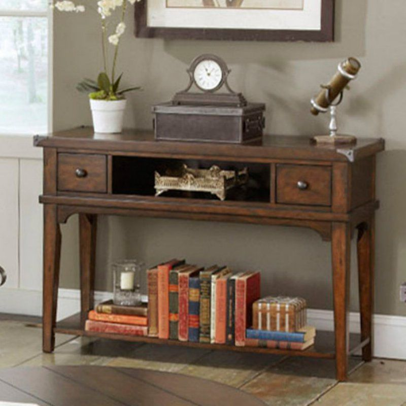 Aspen Rectangular Russet Brown Console Table 316 Ot1030 Console Table Liberty Furniture Furniture